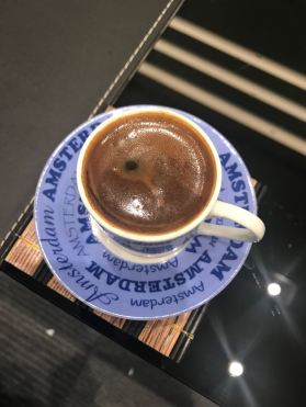 Choosing to have coffee while in Kuwait!